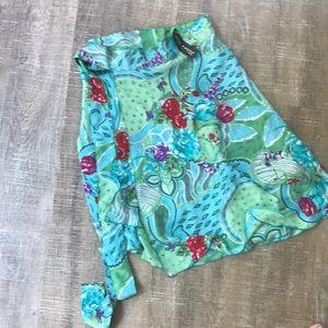 2 silk wrap skirts